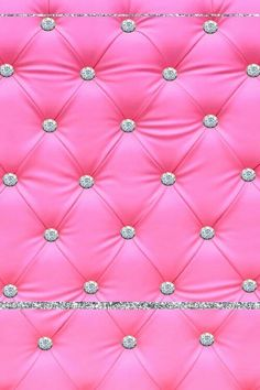 Pink tufted satin with diamond buttons phone wallpaper/background