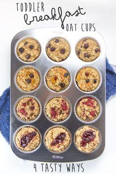 Toddler Breakfast Oat Cups - 4 Tasty Ways
