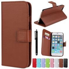 iPhone 6 Plus Case KINGCOOL(TM) Premium PU Leather Wallet Type Stand Case Cover with Megnetic Closer & Card Slots for Apple iPhone 6 5.5 Inch(Brown) Specially designed for Apple iPhone 6 plus 5.5 inch Made of high quality PU leather material+magnetic flip design Includes slots to store your credit cards / business cards Provides great protection with easy installation Full access to all functions