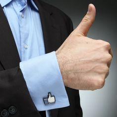 ThinkGeek :: Thumbs-Up Cufflinks