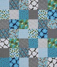 Blue, green, gray 9 block