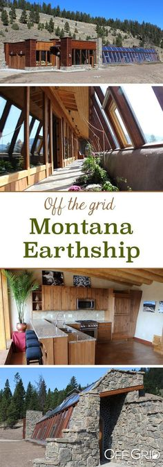 Sky Solar Powered Stone Earthship is Off Grid Living Perfection in Montana A gorgeous, off the grid, solar powered Earthship in MontanaA gorgeous, off the grid, solar powered Earthship in Montana Natural Building, Green Building, Building A House, Build A Solar System, Off Grid House, Off The Grid Homes, Tadelakt, Underground Homes, Natural Homes