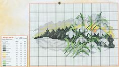 prima zi: diagrame goblen - lunile anului Cross Stitch Designs, Cross Stitch Patterns, Cross Stitch Landscape, Le Point, Needlework, Diy And Crafts, Alphabet, Projects To Try, Embroidery