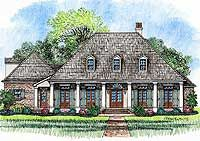3 Bedroom Acadian Home Plan