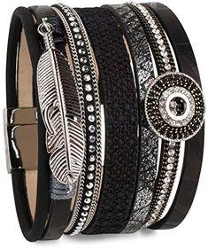 stylebreaker armband mit ethno style amulett feder anhnger strasssteine webstoff magnetverschluss - Ikat Muster Ethno Design
