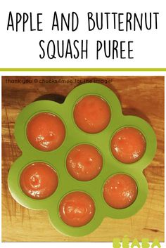 apple and butternut squash puree