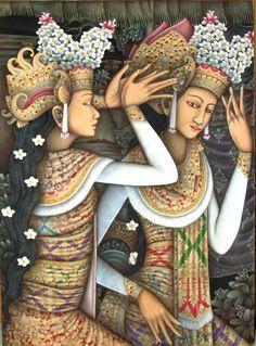 Balinese Traditional Paintings | #art #bali #deavillas
