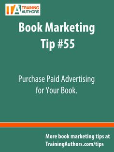 {Book Marketing Tip #55} Check your marketing budget and see if you can afford some paid advertising for your book. Facebook and Goodreads both offer affordable options. #bookmarketingtips #bookmarketing #authortips