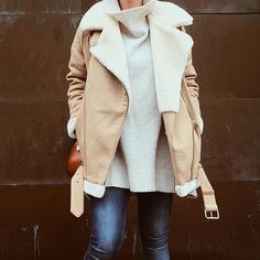 Slouchy Style | Real-Life Proof That a Shearling Jacket Is This Season's Must Have | POPSUGAR Fashion UK