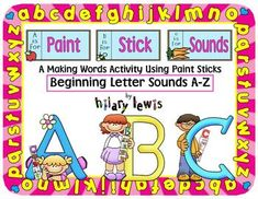 Thanks for checking out my Paint Stick Sounds for Beginning Letter Sounds! You can also use the pieces in a matching notebook! Be sure to download the preview for your free worksheet and a better look at the pack!