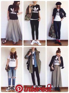 Women S Fashion Dresses Online Normcore Fashion, Adidas Fashion, Colorful Fashion, Love Fashion, Womens Fashion, Chic Outfits, Fall Outfits, Fashion Outfits, Japan Fashion Casual