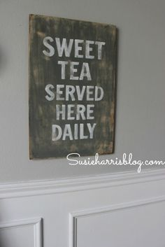 """sweet tea"" in rustic grey I need to make this because we always have sweet tea in the fridge"