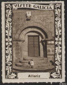 Allariz (Ourense) : [Viñeta con imagen de la puerta del Monasterio de Santa Clara en Allariz] / [fotógrafo, Luis Casado Fernández]. http://aleph.csic.es/F?func=find-c&ccl_term=SYS%3D001528688&local_base=MAD01