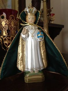 Mary's Infant of Prague after I painted it.