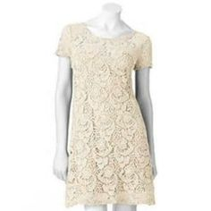 LC LAUREN CONRAD LACE SHIFT DRESS SIZE 0,2,4,6,8,10,12,14,16;NWT 47-