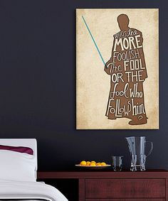Love this The Fool Gallery-Wrapped Canvas by Star Wars on #zulily! #zulilyfinds