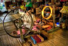 Tradycyjna fabryka parasoli drewnianych