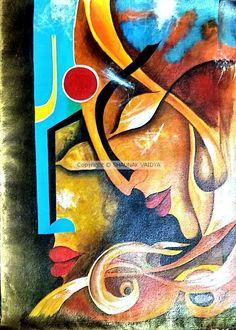 Indian Artwork, Indian Art Paintings, Modern Art Paintings, Ganesha Painting, Buddha Painting, Buddha Art, Canvas Painting Tutorials, Diy Canvas Art, Kerala Mural Painting