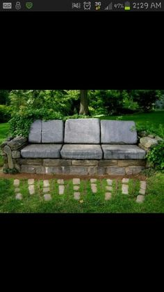 Cool outside stone chair