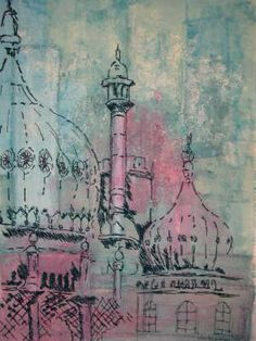 Wendy dolan - evening skies more textiles sketchbook, artist sketchbook, architecture artists, Textiles Sketchbook, Art Sketchbook, Architecture Artists, Cultural Architecture, A Level Textiles, Tinta China, Building Art, A Level Art, Textile Artists