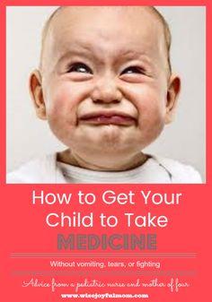 get toddler to take medicine