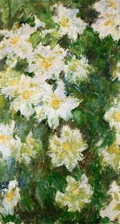 White Clematis, Claude Monet, 1887