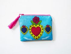 Heart purse, original illustration by Chunchitos