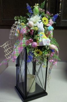 Time for some cleaning out the garage, opening windows for some fresh air, and shaking off the last bit of the winter cold. Easter Projects, Easter Crafts, Easter Decor, Easter Ideas, Lantern Centerpieces, Lanterns Decor, Easter Wreaths, Christmas Wreaths, Spring Wreaths