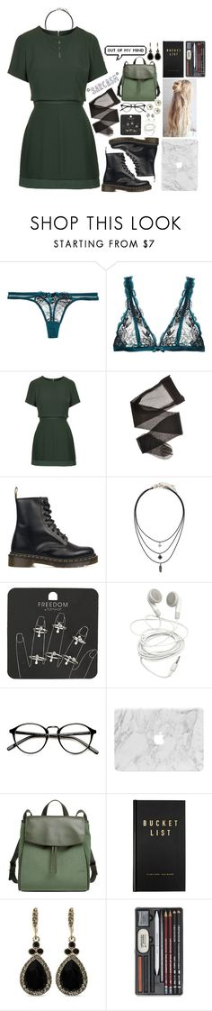 """""""OUT OF MY MIND #9"""" by fran-peeters ❤ liked on Polyvore featuring L'Agent By Agent Provocateur, Topshop, Dr. Martens, Skagen, kikki.K and Givenchy"""
