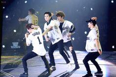 Suho, Sehun, Chanyeol, Chen - 170211 Exoplanet #3 - The EXO'rDium in Hong Kong  Credit: 여기잇츄.