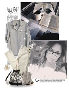"""""""Messy hair don't care"""" by priscilla12 ❤ liked on Polyvore featuring Seneca Rising, H&M, Kate Spade, Henri Bendel, Merci Maman, Aéropostale, women's clothing, women, female and woman"""