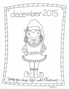 2015 Christmas Coloring Countdown BEGINS!