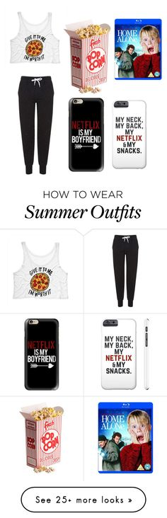 """""""Netflix and Chill... With myself"""" by syleramorrison on Polyvore featuring Topshop and Casetify"""