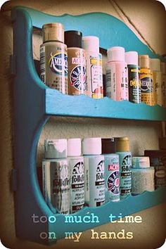 spice rack for craft paint