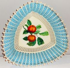 Corbeilles à Pain 'Fruits' - Scoubidou Bleu - Plastona - Années 50-60
