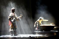 Tibetan people are performing.
