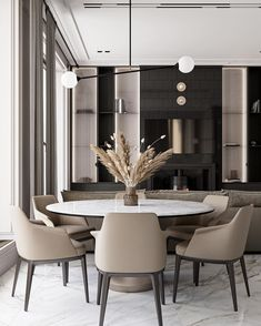 Luxury Dining Room, Dining Room Sets, Home Room Design, Dining Room Design, Appartement Design, Dining Room Inspiration, Design Inspiration, Modern Dining Table, Dining Tables
