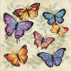 free cross stitch patterns to print | dimensions counted cross stitch kit butterfly profusion