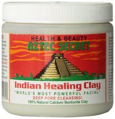 Aztec Secret - Argile pour le Visage - Indian Healing Clay - Nettoyage des Pores du Visages en Profondeur - 450 g