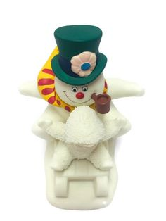 Snowbabies Fun With Frosty The Snowman Department 56 Figurine Christmas Decor #Department56