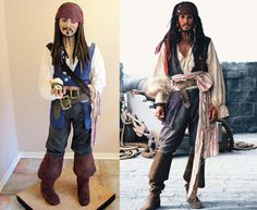 Life-Size Cake of Johnny Depp as Captain Jack Sparrow