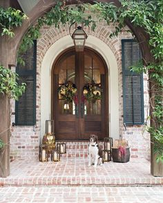 """770 Likes, 4 Comments - Pottery Barn Australia (@potterybarnaus) on Instagram: """"Autumnal front door inspiration by @colonialhouseofflowers, featuring our Vince Accent Stool …"""""""
