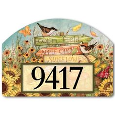 About the Design Colorful farm signs with a basket of fresh produce are surrounded by a field of sunflowers. About the Yard DeSign Yard DeSigns from Magnet Works are vinyl, screen-printed magnets avai