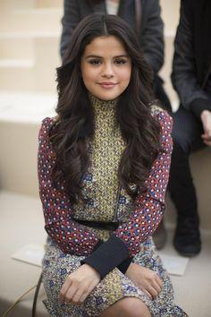Selena Gomez backstage at Louis Vuitton fall 2015 RTW