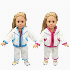 Cute Baby Doll Clothes Thick White Fleece Hoodie Pants Outfits Jacket Suit for 16 - 18 Inches American Girl / Boy Dolls. Yesterday's price: US $6.43 (5.30 EUR). Today's price: US $4.50 (3.69 EUR). Discount: 30%.