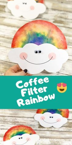 Coffee Filter Rainbow Craft This Coffee Filter Rainbow is a fun spring craft for kids to make at home or at school. Perfect project for preschool children. Makes a great suncatcher too. Daycare Crafts, Preschool Crafts, Easter Crafts, Fun Crafts, Spring Craft Preschool, Crafts Toddlers, Cool Kids Crafts, Colorful Crafts, Craft Kids
