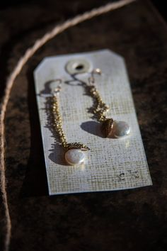 Vintage Reconstructed with Freshwater Pearls by gilded fern