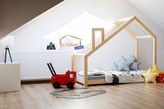 Bett f/ür Kinder Kinderhaus Weiss Kinderbett Sicherheitbarrieren 140x70 cm Hausbett