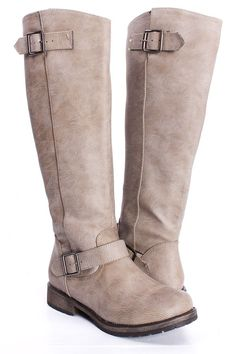 knee high equestrian boot - love this color