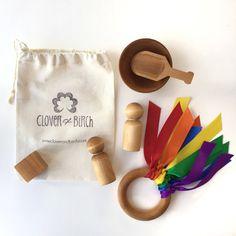 Set de juguete niño media embutidora bolso del por CloverandBirch